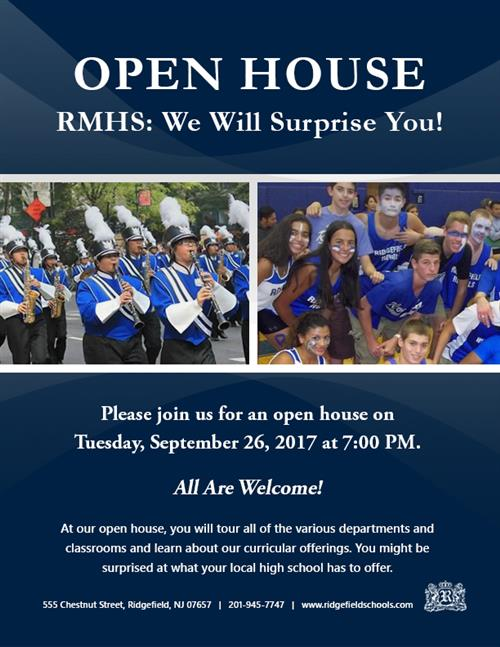 RMHS Open House: We Will Surprise You